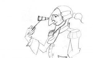 איור סקיצה - חייל צורפתי